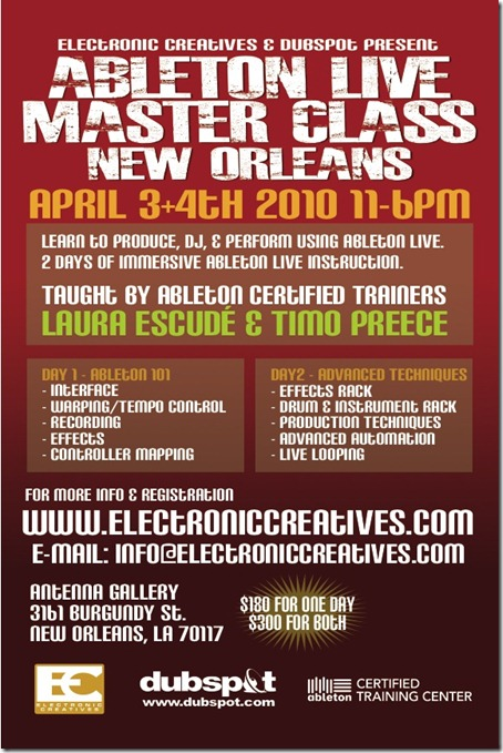 New Orleans Master Class 4_3-4