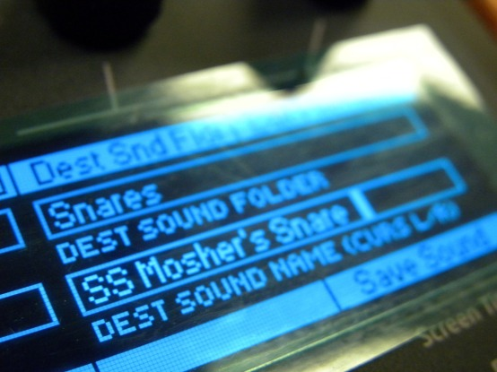 OLED Display with a Snare Programmed by Yours Truly