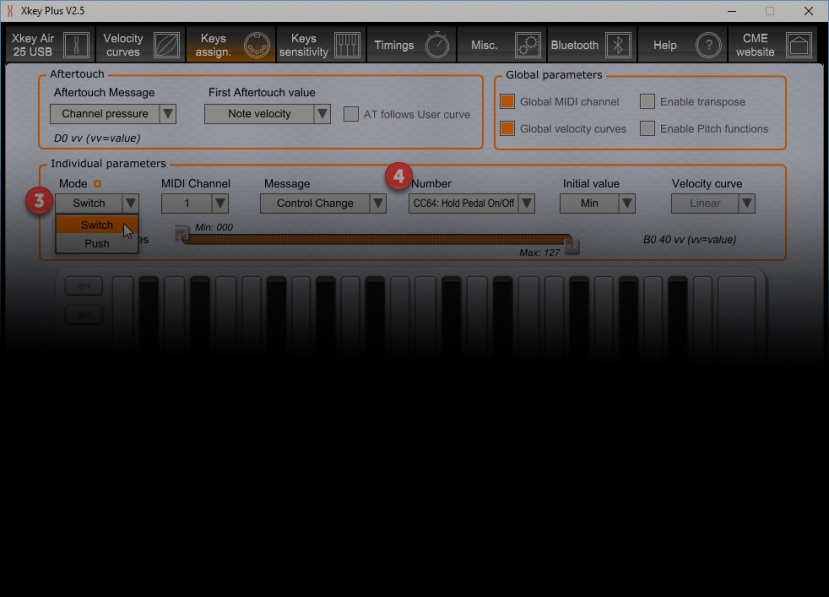 CME Xkey Tip: Latching Sustain for Drones and Arps