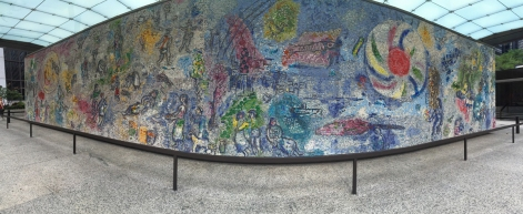 """""""The Four Seasons"""" mosaic by Marc Chagall taken while doing field recording in Chicago, Illinois, USA"""