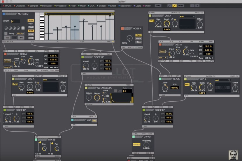 "Watch This Cool Tutorial on How to Make Pink Floyd ""On The Run"" with M4L OSCiLOTT Modular"