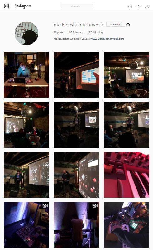 Photo / Video Journaling on Denver & Boulder Synth Scene onInstagram