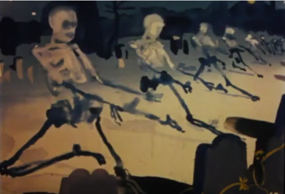 Horror & Gothic Music Themes from the Past: Dark Shadows + Saint-Saëns – Danse Macabre Halloween Film Strip (That One That Scared You in Third Grade) + Outer Limits + NightGallery
