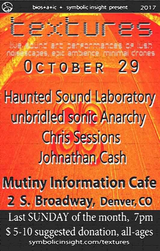Poster from October 29 Textures Ambient Showcase