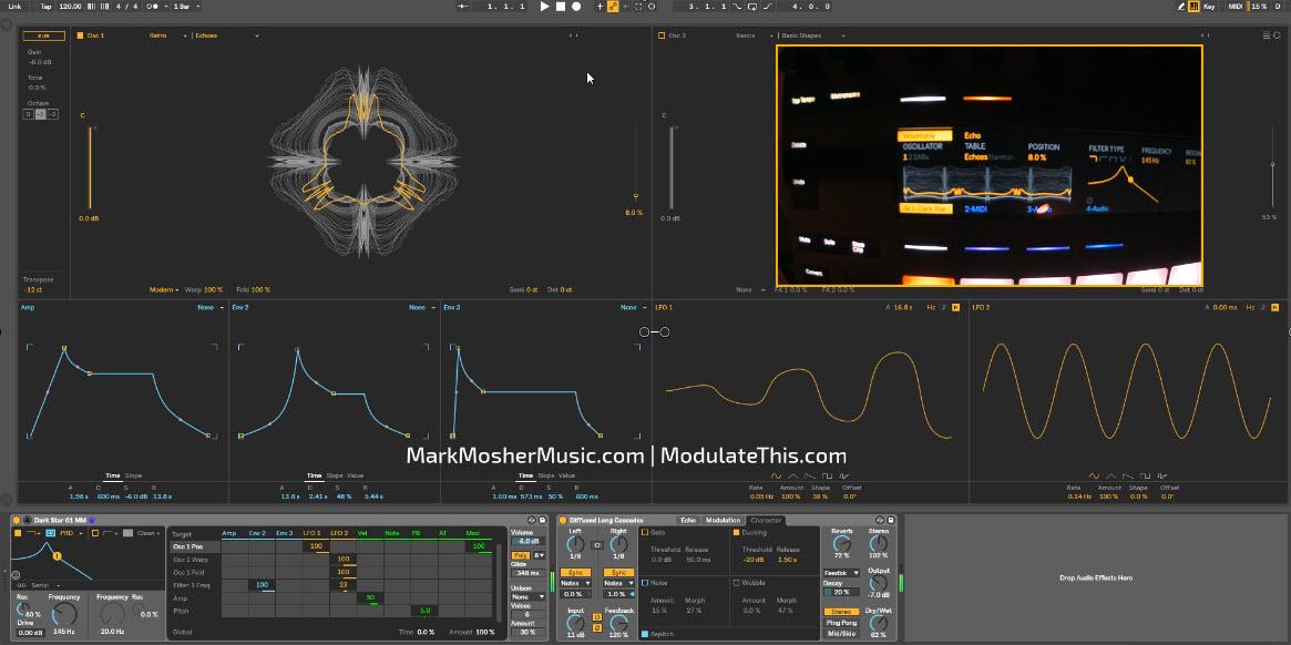 """Dark Star 01 MM"" Original Preset for Ableton Live 10 Wavetable Synth (beta)"