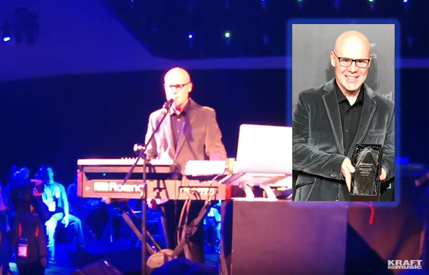 Thomas Dolby Accepts Roland Lifetime Achievement Award, Does Some Storytelling, and Performs Two Hits Using Vintage a Jupiter-4 and Jupiter-8 + 1983 Concert Footage