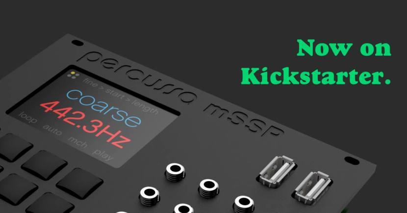 Percussa Kickstarter for micro Super Signal Processor Eurorack Module(mSSP)